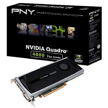 PNY Quadro 4000 PNY Quadro 4000 - 2 Go DVI/Dual DisplayPort - PCI Express (NVIDIA Quadro 4000)
