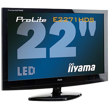 "iiyama 22"" LED - ProLite E2271HDS-B1 1920 x 1080 pixels - 5 ms - Format large 16/9 - port HDMI - Noir"
