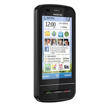 """Nokia C6 Qwerty Noir Nokia C6 Qwerty Noir - Smartphone 3G+ avec écran tactile 3.2"""" et clavier coulissant"""