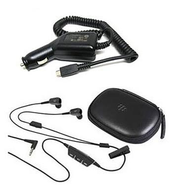 Blackberry Pack Multimedia 2-en-1 Blackberry Pack Multimedia 2-en-1 - Chargeur allume-cigare + Kit piéton avec boîte de rangement