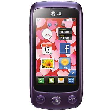 LG GS500 Cookie Plus Violet LG GS500 Cookie Plus Violet - Smartphone 3G+ avec écran tactile 3""