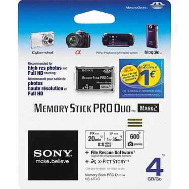 Sony Memory Stick PRO Duo 4 Go Sony Memory Stick PRO Duo 4 Go