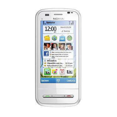 """Nokia C6 Qwerty Blanc Smartphone 3G+ avec écran tactile 3.2"""" et clavier coulissant"""