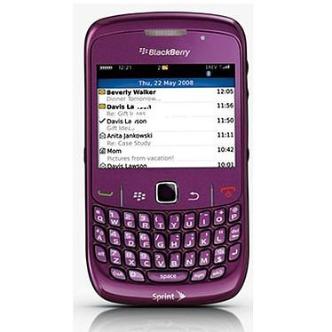 """BlackBerry Curve 8520 violet Smartphone 2G avec écran 2.4"""" et clavier complet"""