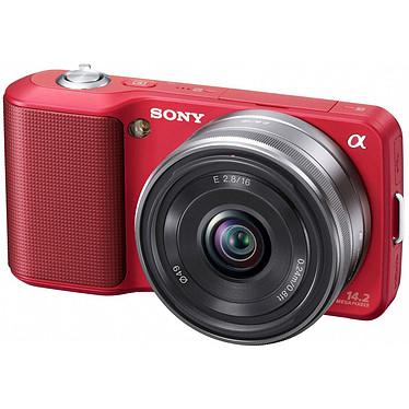 Sony NEX-3 Rouge + Objectif 16 mm Sony NEX-3 Rouge + Objectif 16 mm - Appareil photo hybride 14.2 MP - Vidéo HD