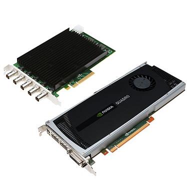 PNY Quadro 4000 SDI (Capture) PNY Quadro 4000 SDI (Capture) - 2 Go DVI/Dual DisplayPort/SDI(BNC) - PCI Express (NVIDIA Quadro 4000)