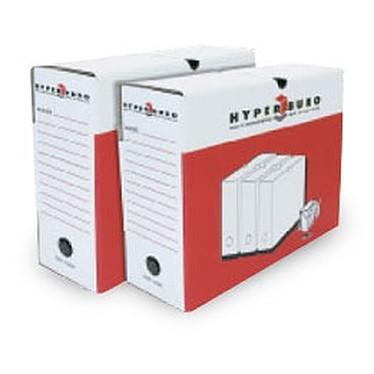 HYPERBURO 10 boîtes à archives dos 20 cm HYPERBURO 10 boîtes à archives 33 x 25 cm dos 20 cm