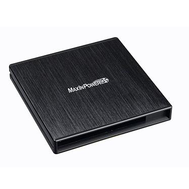 MaxInPower BEMIPSLIMST MaxInPower BEMIPSLIMST - Boîtier externe pour lecteur/graveur CD et DVD Slim SATA - Noir (USB 2.0)