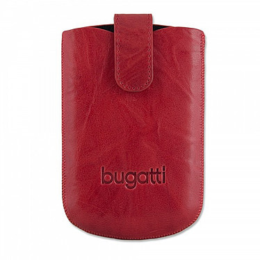 Bugatti SlimCase Unique L rouge chili - Etui en cuir universel (pour téléphones portables) Bugatti SlimCase Unique L rouge chili - Etui en cuir universel (pour téléphones portables)