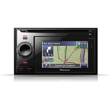 Pioneer AVIC-F320BT Pioneer AVIC-F320BT - Station multimédia GPS double DIN avec écran 4,3 pouces, contrôle iPod, entrée carte SD, USB