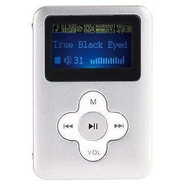 """ClipSonic MP105 Argent - 2 Go Lecteur MP3 2 Go Ecran 1,8"""""""