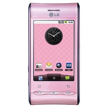 """LG GT540 Optimus Rose Smartphone 3G+ avec écran tactile 3"""" sous Android"""