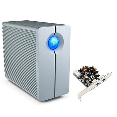 LaCie 2big 4 To (USB 3.0) + carte PCI-E (2x USB 3.0) Système de stockage RAID professionnel à 2 disques + carte contrôleur USB 3.0 (garantie LaCie 3 ans)