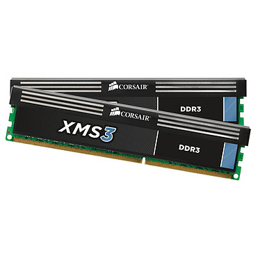 Corsair XMS3 8 Go (2x 4 Go) DDR3 1600 MHz CL9 Kit Dual Channel RAM DDR3 PC12800 - CMX8GX3M2A1600C9 (Garantie à vie par Corsair)