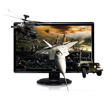 """ASUS 23"""" LCD 3D - VG236HE 1920 x 1080 pixels - 2 ms (gris à gris) - Format large 16/9 - HDMI - 120 Hz - 3D Ready"""