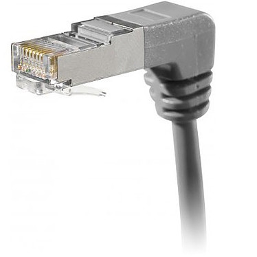 Câble RJ45 coudé catégorie 5e FTP 2 m (Gris) Câble RJ45 coudé bas catégorie 5e FTP 2 m (Gris)