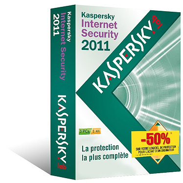 Kaspersky Internet Security 2011 - Vendu avec un produit informatique uniquement Kaspersky Internet Security 2011 - Licence 1 an 3 postes - Vendu avec un produit informatique uniquement (français, WINDOWS)