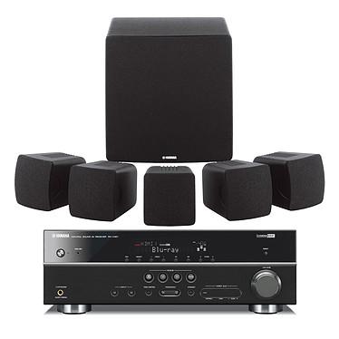 Yamaha RX-V467 + NS-P280 Noir Yamaha RX-V467 + NS-P280 Noir - Ampli-tuner Home Cinema 5.1 3D Ready avec HDMI 1.4 et Décodeurs HD + Pack d'enceintes 5.1