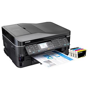 Epson Stylus Office BX625FWD Epson Stylus Office BX625FWD - Imprimante Multifonction jet d'encre couleur 4-en-1 (USB 2.0 / Ethernet / Wi-Fi b/g/n)
