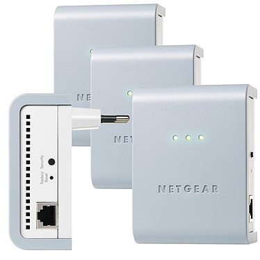 Netgear XAVB101X2 Netgear XAVB101X2 - Pack de 4 adaptateurs CPL 200 Mbps