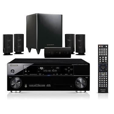 Pioneer VSX-920-K + Harman Kardon HKTS 20 Noir Pioneer VSX-920-K + Harman Kardon HKTS 20 Noir - Ampli-tuner Home Cinema 7.1 3D Ready avec HDMI 1.4 et Décodeurs HD + Pack d'enceintes 5.1