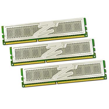 OCZ Platinum Edition 6 Go (3x 2Go) DDR3 1600 MHz OCZ Platinum Edition Triple Channel 6 Go (kit 3x 2 Go) DDR3-SDRAM PC3-12800 - OCZ3P1600ELV6GK (garantie 10 ans par OCZ)