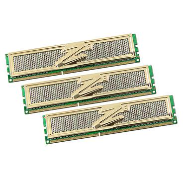 OCZ Gold Edition 12 Go (3x 4Go) DDR3 1333 MHz OCZ Gold Edition Triple Channel 12 Go (kit 3x 4 Go) DDR3-SDRAM PC3-10666 - OCZ3G1333ULV12GK (garantie 10 ans par OCZ)