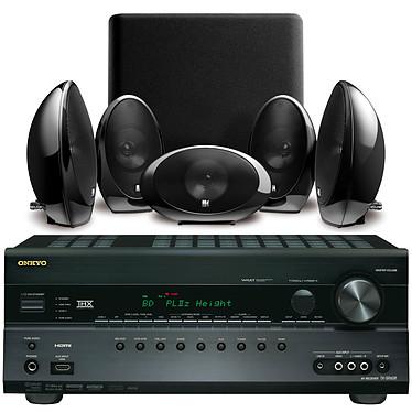 Onkyo TX-SR608 + KEF KHT1005.2 Noir Onkyo TX-SR608 + KEF KHT1005.2 Noir - Ampli-tuner Home Cinéma 7.2 THX Select 2 Plus avec HDMI 1.4 et Décodeurs HD + Pack d'enceintes 5.1