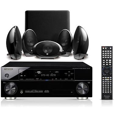 Pioneer VSX-920-K Noir + KEF KHT1005.2 Pioneer VSX-920-K Noir + KEF KHT1005.2 - Ampli-tuner Home Cinema 7.1 3D Ready avec HDMI 1.4 et Décodeurs HD + Pack d'enceintes 5.1