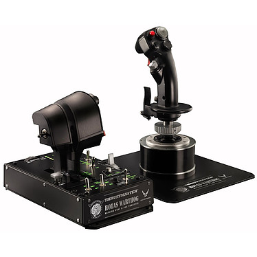Thrustmaster HOTAS WARTHOG Système de pilotage avancé pour simulateur de vol avec joystick, panneau de contrôle rétro-éclairé et double manette des gaz (compatible DCS, Flight Simulator, Star Citizen, Elite: Dangerous...)