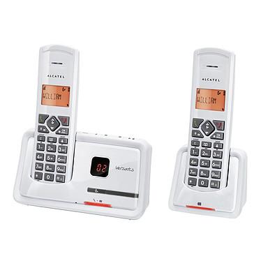 Alcatel Versatis D150 Voice Titane Duo Alcatel Versatis D150 Voice Titane Duo - Téléphone DECT sans fil avec répondeur + 1 combiné supplémentaire (version française)
