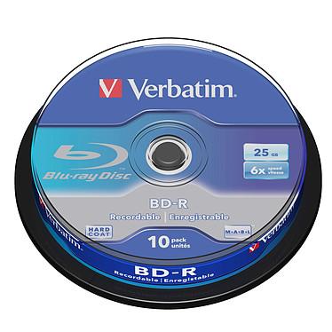 Verbatim BD-R 25 Go certifié 6x (par 10, spindle)