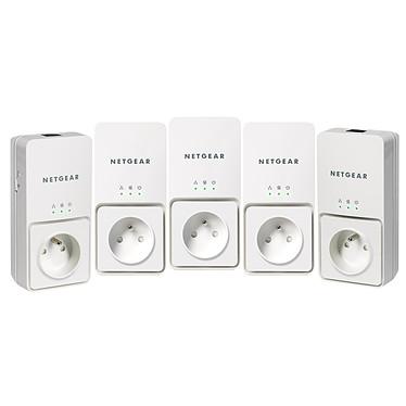 Netgear XAVT2501 + XAVB2501 Netgear XAVT2501 + XAVB2501 - Pack de 5 Adaptateurs CPL Ethernet 200 Mbit/s avec prise électrique