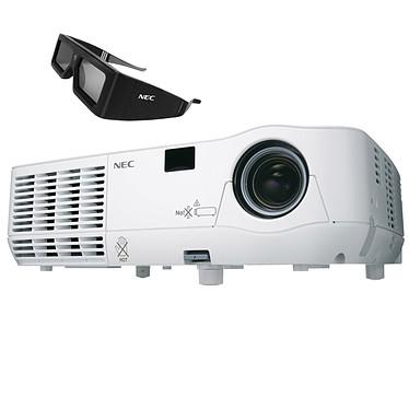 NEC NP216-3D + NP01SK3D Vidéoprojecteur DLP XGA 3D Ready 2500 Lumens + Kit lunettes 3D
