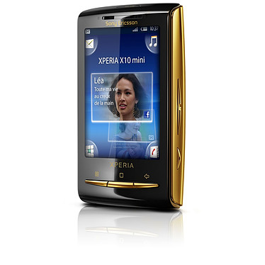 """Sony Ericsson Xperia X10 mini Gold Sony Ericsson Xperia X10 mini Gold - Smartphone 3G+ avec écran tactile 2.5"""" sous Android"""