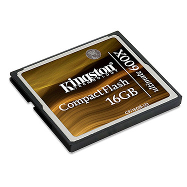 Kingston CompactFlash Ultimate 600x 16 GB Kingston CompactFlash Ultimate 600x - 16 Go + logiciel de restauration MediaRECOVER (garantie 10 ans par Kingston) - Voir note*