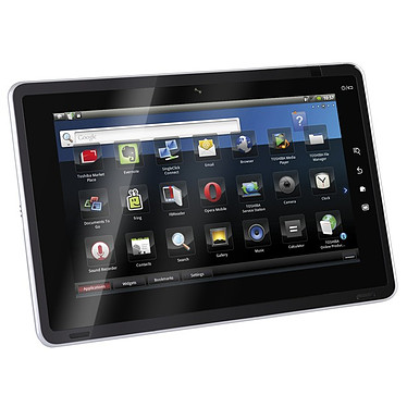 "Toshiba Folio 100 - 250  SSD - 16 Go - 10.1"" LCD Toshiba Folio 100 - Tablette Internet NVIDIA Tegra 250  SSD 16 Go 10.1"" LCD Wi-Fi N/Bluetooth Webcam Android 2.2"