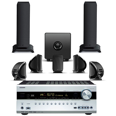 Onkyo TX-NR708 Argent + Focal Sib XL & Sib & Cub 2 Jet Black Onkyo TX-NR708 Argent + Focal Sib XL & Sib & Cub 2 Jet Black - Ampli-tuner Home Cinema 3D Ready 7.2 THX Select2 Plus DLNA avec HDMI 1.4 et décodeurs HD + Pack d'enceintes 7.1