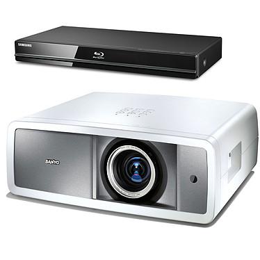 Sanyo PLV-Z800 + Samsung BD-P1600 Sanyo PLV-Z800 + Samsung BD-P1600 - Vidéoprojecteur LCD Full HD 1080p et lecteur Blu-ray
