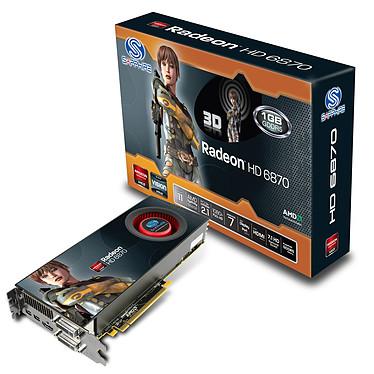 Sapphire Radeon HD 6870 1 GB Sapphire Radeon HD 6870 - 1 Go HDMI/Dual DVI/Dual Mini-DisplayPort - PCI Express (AMD Radeon HD 6870)