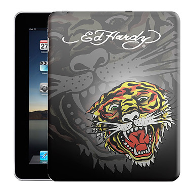 "Ed Hardy - Faceplate iPad ""Tiger"" Ed Hardy - Faceplate iPad ""Tiger"" avec background Charcoal"