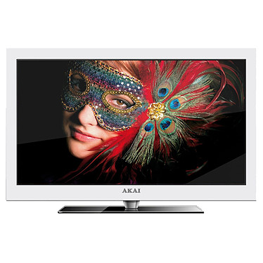 "Akai DLC-E2451 Blanc Akai DLC-E2451 Blanc - Téléviseur LED Full HD 24"" (61 cm) Tuner TNT HD - HDTV 1080p - USB PVR"