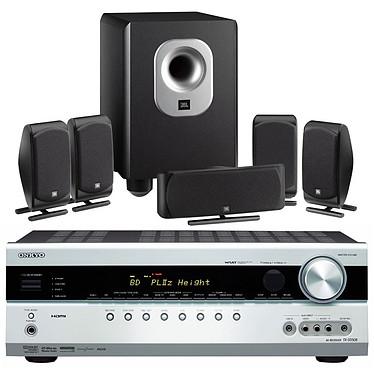 Onkyo TX-SR508 Argent + JBL SCS 200.5 Noir Onkyo TX-SR508 Argent + JBL SCS 200.5 Noir - Ampli-tuner Home Cinéma 7.1 avec HDMI 1.4 et Décodeurs HD + Pack d'enceintes 5.1