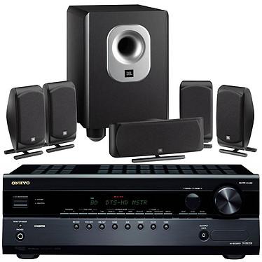 Onkyo TX-SR308 + JBL SCS 200.5 Noir Onkyo TX-SR308 + JBL SCS 200.5 Noir - Ampli-tuner Home Cinéma 5.1 avec HDMI 1.4 et Décodeurs HD + Pack d'enceintes 5.1