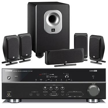 Yamaha RX-V567 + JBL SCS 200.5 Noir Yamaha RX-V567 + JBL SCS 200.5 Noir - Ampli-tuner Home Cinema 7.1 3D Ready avec HDMI 1.4 et Décodeurs HD + Pack d'enceintes 5.1