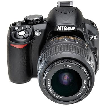 Nikon D3100 + 18-55 mm VR + 55-200 mm VR + Sacoche + Carte SDHC 4 Go pas cher