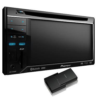 Pioneer NavGate 32BT Pioneer NavGate 32BT - Lecteur multimédia Bluetooth double DIN avec écran 5,8 pouces, entrée pour carte SD, contrôle iPod, USB en façade et entrée auxiliaire + Boîtier GPS AVIC-F220