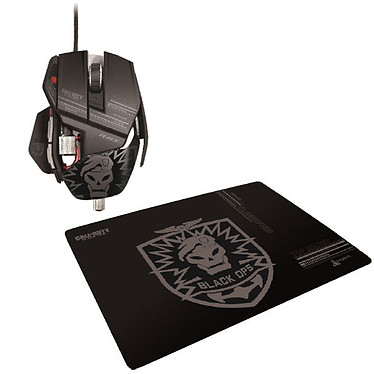 Cyborg R.A.T. CoD Black OPS Stealth Gaming Mouse + Stealth Gaming Surface Cyborg R.A.T. CoD Black OPS Stealth Gaming Mouse + Stealth Gaming Surface