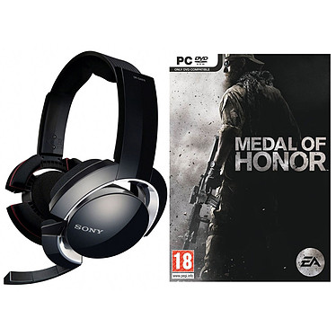 Sony DR-GA200 + Medal of Honor (PC) Sony DR-GA200 + Medal of Honor (PC) - Micro-casque stéréo