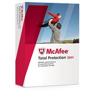 McAfee Total Protection 2011 MAJ 3 postes McAfee Total Protection 2011 - Mise à jour 1 an 3 postes (français, WINDOWS)